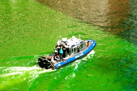 Dying the river green...