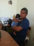 With his Abuelito